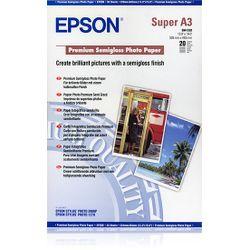 Epson Premium Semigloss Photo Paper, DIN A3+, 250g/m², 20