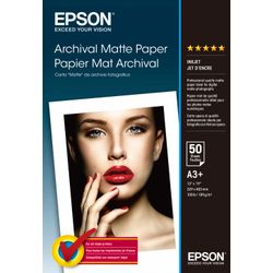 Epson Archival Matte Paper, DIN A3+, 189g/m², 50 Vel