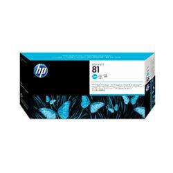HP 81 cyaan DesignJet printkop en printkopreiniger voor