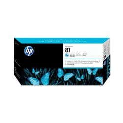 HP 81 licht-cyaan DesignJet printkop en printkopreiniger