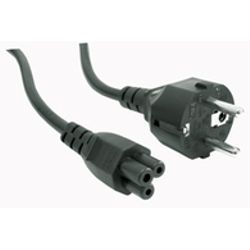 Microconnect Power Cord CEE 7/7 - C5 1m Angled Schuko, Black, H05VV-F3x0.75mm2 CU, Male-Female