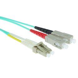 Advanced Cable Technology LC-SC 50/125µm OM3 Duplex fiber optic patchkabel 1 stk