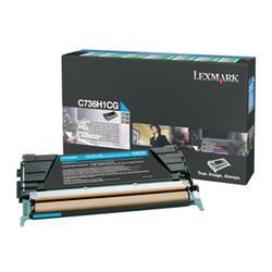 Lexmark C736, X736, X738 10K cyaan retourpr. tonercartr.