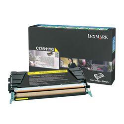 Lexmark C736, X736, X738 10K gele retourpr. tonercartr.