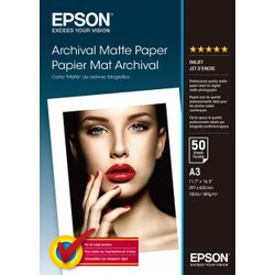 Epson Archival Matte Paper, DIN A3, 192g/m², 50 Vel