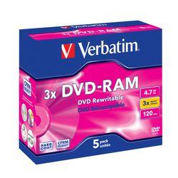Verbatim DVD-RAM 3x 4,7 GB 5 stuk(s)