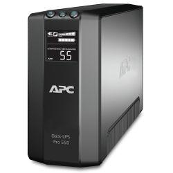 APC Back UPS RS LCD 550. Output power capacity: 550 VA, Uitgangsvermogen: 330 W, Surge energy rating: 355 J. Lengte snoer: 1,83