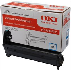 OKI Cyan image drum for C5850/5950 20000 pagina's Cyaan