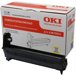 OKI Yellow image drum for C5850/5950 20000pagina's Geel