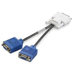 HP . Aansluiting 1: DMS-59, Aansluiting 2: 2 x VGA, Soort stekkers: Mannelijk/ Mannelijk. Kleur van het product: Blauw, Wit. Com