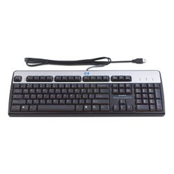 HP USB Standard Keyboard toetsenbord Zwart, Zilver