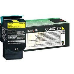 Lexmark C544, C546, X544, X546 4K gele retourpr. cartr.