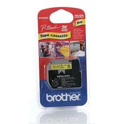 Brother 12 mm zwart op gele tape