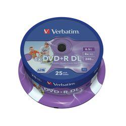 Verbatim DVD+R Double Layer Inkjet Printable 8x 8.5GB DVD+R