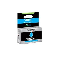 Lexmark 100XL hg rendem. retourprogr. cyaan inktcartr.