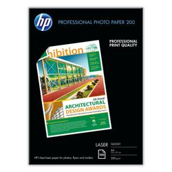 HP Professional Laser Photo Paper, glanzend, 200 gr/m², 100 vel, A4/210 x 297 mm pak fotopapier