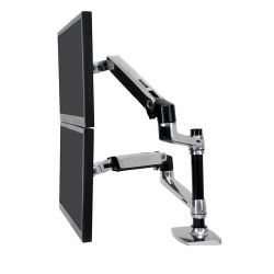 "Ergotron LX Series Dual Stacking Arm 61 cm (24"") Zilver"