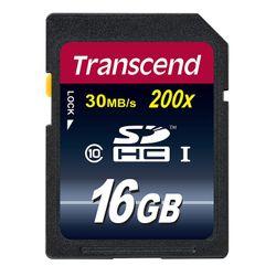 Transcend . Capaciteit: 16 GB, Soort flashgeheugen: SDHC, Flash memory klasse: Class 10. Houdbaarheid: 10000 cycli per logische