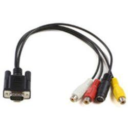 Microconnect MONGGSV, VGA to S-video and RCA, 0.3m (MONGGSV)