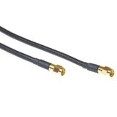 KTI Networks Coax verloop kabel reverse SMA male - SMA male
