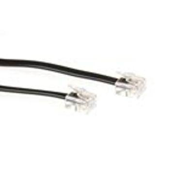 ACT Modulaire telefonie kabel RJ-11 - RJ-11 zwart