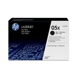 HP 05X originele high-capacity zwarte LaserJet tonercartridge, 2-pack