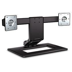 "HP Adjustable Dual Display Stand 24"" Zwart"