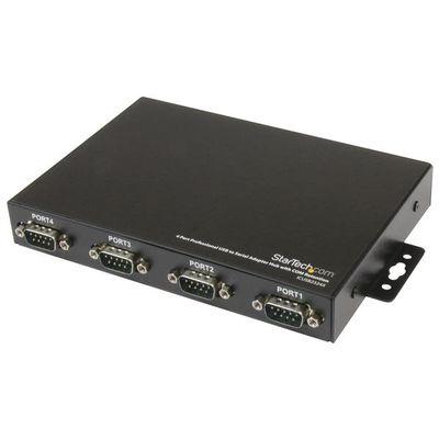 StarTech.com Professionele USB naar 4 Seriële Poort Adapter Hub met COM-behoud