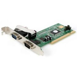 StarTech.com 2-poort PCI RS232 Seriële Adapterkaart met 16550 UART interfacekaart/-adapter