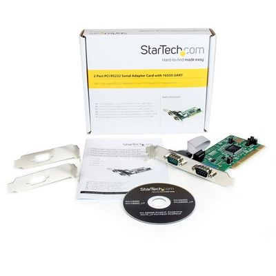 StarTech.com 2-poort PCI RS232 Seriële Adapterkaart met 16550 UART