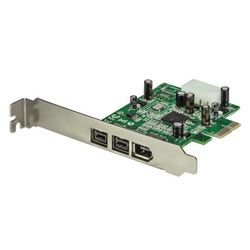 StarTech.com 3-poort 2b 1a 1394 PCI Express FireWire Adapterkaart interfacekaart/-adapter
