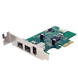StarTech.com 3-poort 2b 1a Low Profile 1394 PCI Express FireWire Adapterkaart interfacekaart/-adapter