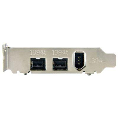 StarTech.com 3-poort 2b 1a Low Profile 1394 PCI Express FireWire Adapterkaart