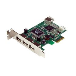 StarTech.com 4-poort PCI Express Low Profile High Speed USB-kaart interfacekaart/-adapter