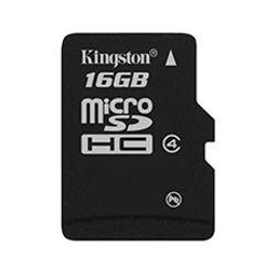 Kingston Technology 16Gb microSDHC, 16 GB, MicroSDHC, Zwart, 2.7/3.6, -25 - 85 °C, -40 - 85 °C