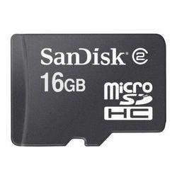 Sandisk MicroSDHC 16GB Class 2, MicroSDHC, Zwart