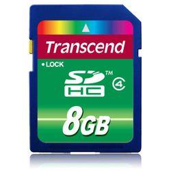 Transcend . Capaciteit: 8 GB, Soort flashgeheugen: SDHC. Houdbaarheid: 10000 cycli per logische sector. Kleur van het product: Z