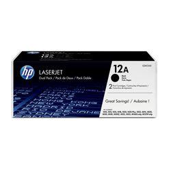 HP 12A originele zwarte LaserJet tonercartridge, 2-pack