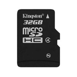 Kingston , 32GB microSDHC Class 4 Flash Card Single Pack w/o Adapter