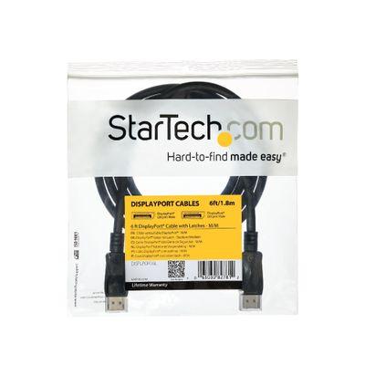 StarTech.com DisplayPort 1.2 kabel met sluitingen gecertificeerd, 1,8 m