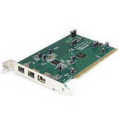 StarTech.com 3-poort PCI 1394b FireWire Adapter met Digitale Videobewerkingsset interfacekaart/-adapter