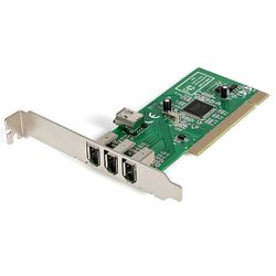 StarTech.com 4-poort PCI 1394a FireWire Adapter Kaart 3 Extern 1 Intern interfacekaart/-adapter