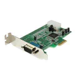 StarTech.com 1-poort Low Profile Native RS232 PCI Express Seriële Kaart met 16550 UART interfacekaart/-adapter