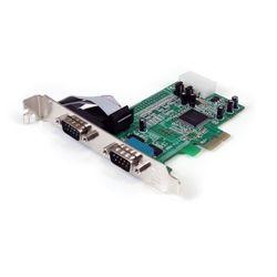 StarTech.com 2-poort Native PCI Express RS232 Seriële Kaart met 16550 UART interfacekaart/-adapter