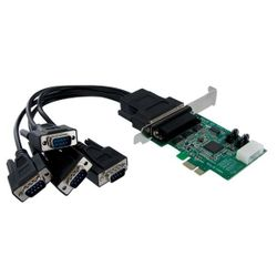 StarTech.com 4-poort Native PCI Express RS232 Seriële Kaart met 16950 UART interfacekaart/-adapter