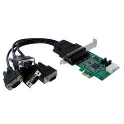 StarTech.com 4-poort Native PCI Express RS232 Seriële Kaart met 16950 UART interfacekaart/-adapter
