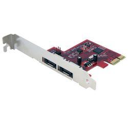 StarTech.com 2-poort SATA 6 Gbit/s PCI Express eSATA Controllerkaart interfacekaart/-adapter