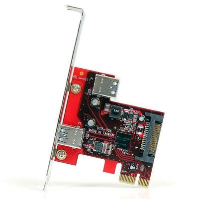 StarTech.com 2-poorts PCI Express SuperSpeed USB 3.0 kaart met UASP-ondersteuning 1 intern, 1 extern