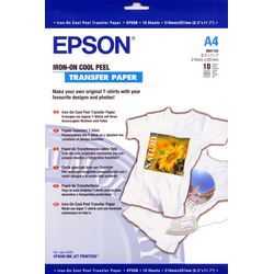 Epson Iron-on-transfer Paper, DIN A4, 124g/m², 10 Vel