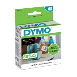 DYMO Square multipurpose labels Zwart, Wit 750stuk(s) etiket-S0929120